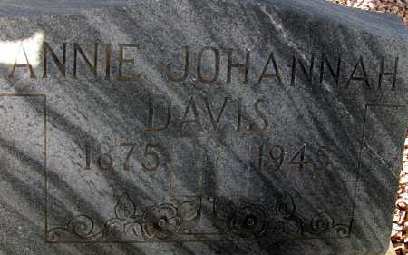 DAVIS, ANNIE JOHANNAH - Apache County, Arizona   ANNIE JOHANNAH DAVIS - Arizona Gravestone Photos