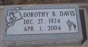 DAVIS, DOROTHY B. - Apache County, Arizona | DOROTHY B. DAVIS - Arizona Gravestone Photos