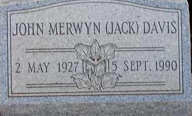 DAVIS, JOHN MERWYN (JACK) - Apache County, Arizona | JOHN MERWYN (JACK) DAVIS - Arizona Gravestone Photos