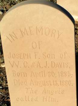 DAVIS, JOSEPH F. - Apache County, Arizona   JOSEPH F. DAVIS - Arizona Gravestone Photos