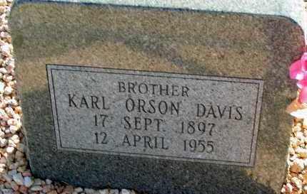 DAVIS, KARL ORSON - Apache County, Arizona | KARL ORSON DAVIS - Arizona Gravestone Photos