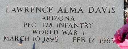 DAVIS, LAWRENCE ALMA - Apache County, Arizona | LAWRENCE ALMA DAVIS - Arizona Gravestone Photos