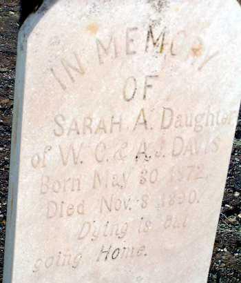 DAVIS, SARAH A. - Apache County, Arizona | SARAH A. DAVIS - Arizona Gravestone Photos