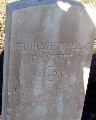 DEWITT, ELIJAH GREER - Apache County, Arizona | ELIJAH GREER DEWITT - Arizona Gravestone Photos
