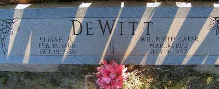 GREER DEWITT, WILLMIRTH - Apache County, Arizona | WILLMIRTH GREER DEWITT - Arizona Gravestone Photos