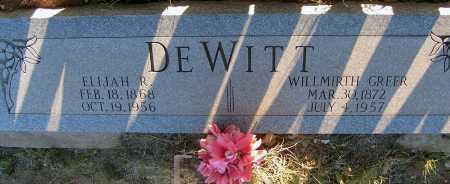 DEWITT, ELIJAH R. - Apache County, Arizona | ELIJAH R. DEWITT - Arizona Gravestone Photos