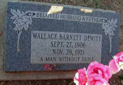 DEWITT, WALLACE BARNETT - Apache County, Arizona | WALLACE BARNETT DEWITT - Arizona Gravestone Photos