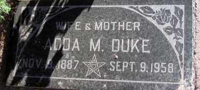 DUKE, ADDA M. - Apache County, Arizona   ADDA M. DUKE - Arizona Gravestone Photos