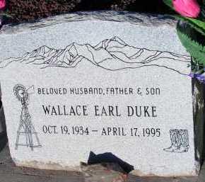 DUKE, WALLACE EARL - Apache County, Arizona | WALLACE EARL DUKE - Arizona Gravestone Photos