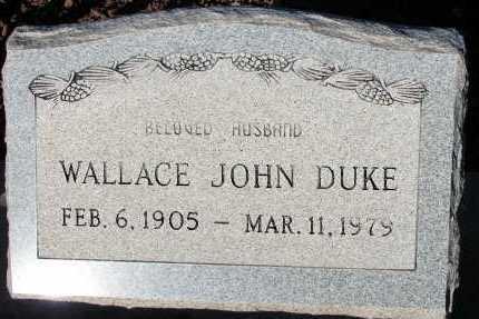 DUKE, WALLACE JOHN - Apache County, Arizona | WALLACE JOHN DUKE - Arizona Gravestone Photos