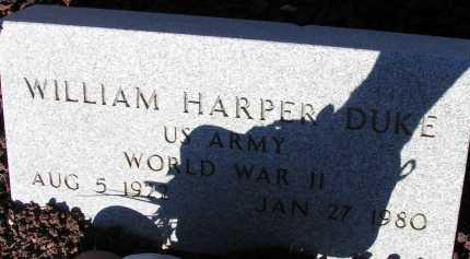 DUKE, WILIAM HARPER - Apache County, Arizona | WILIAM HARPER DUKE - Arizona Gravestone Photos