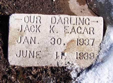 EAGAR, JACK K - Apache County, Arizona   JACK K EAGAR - Arizona Gravestone Photos
