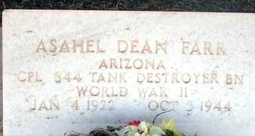 FARR, ASAHEL DEAN - Apache County, Arizona | ASAHEL DEAN FARR - Arizona Gravestone Photos