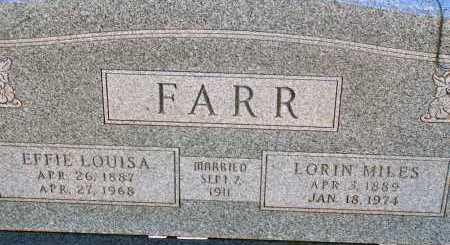 FARR, LORIN MILES - Apache County, Arizona | LORIN MILES FARR - Arizona Gravestone Photos
