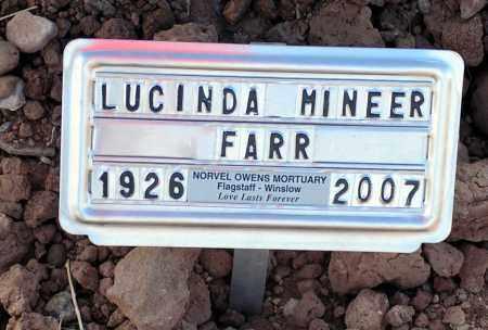 MINEER FARR, LUCINDA - Apache County, Arizona | LUCINDA MINEER FARR - Arizona Gravestone Photos
