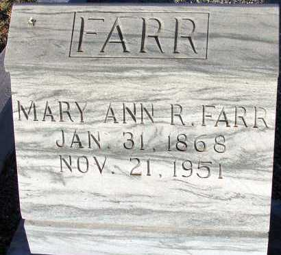FARR, MARY ANN R. - Apache County, Arizona | MARY ANN R. FARR - Arizona Gravestone Photos