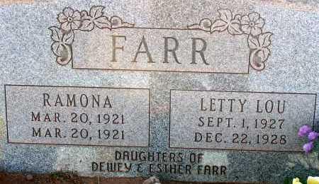 FARR, RAMONA - Apache County, Arizona | RAMONA FARR - Arizona Gravestone Photos