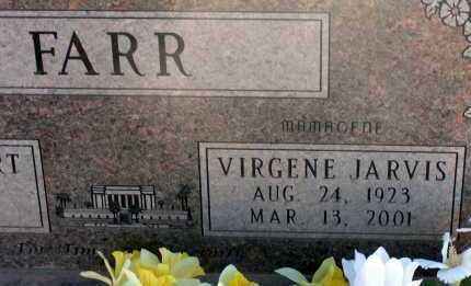 JARVIS FARR, VIRGENE - Apache County, Arizona | VIRGENE JARVIS FARR - Arizona Gravestone Photos