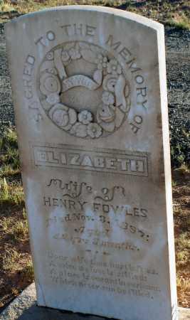 FOWLES, ELIZABETH - Apache County, Arizona | ELIZABETH FOWLES - Arizona Gravestone Photos