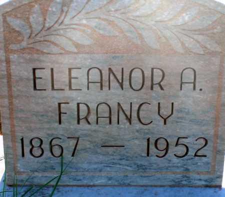 FRANCY, ELEANOR A. - Apache County, Arizona | ELEANOR A. FRANCY - Arizona Gravestone Photos