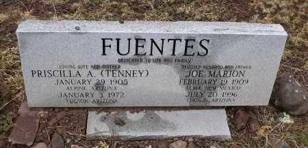 TENNEY FUENTES, PRISCILLA A. - Apache County, Arizona | PRISCILLA A. TENNEY FUENTES - Arizona Gravestone Photos