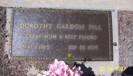 HILL GARDOM, DOROTHY - Apache County, Arizona   DOROTHY HILL GARDOM - Arizona Gravestone Photos