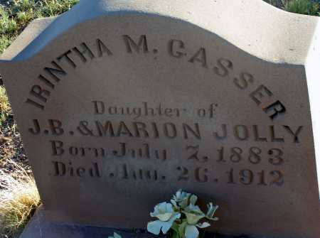 JOLLY GASSER, IRINTHA M. - Apache County, Arizona | IRINTHA M. JOLLY GASSER - Arizona Gravestone Photos