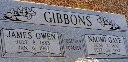 GIBBONS, JAMES OWEN - Apache County, Arizona | JAMES OWEN GIBBONS - Arizona Gravestone Photos
