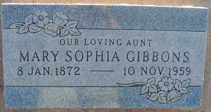 GIBBONS, MARY SOPHIA - Apache County, Arizona | MARY SOPHIA GIBBONS - Arizona Gravestone Photos