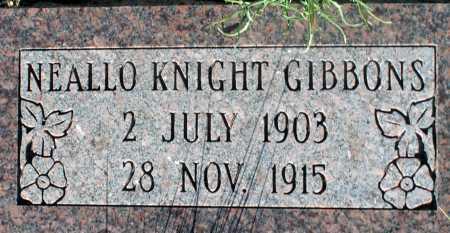 GIBBONS, NEALLO KNIGHT - Apache County, Arizona | NEALLO KNIGHT GIBBONS - Arizona Gravestone Photos