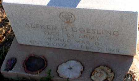 GOESLING, ALFRED H. - Apache County, Arizona   ALFRED H. GOESLING - Arizona Gravestone Photos