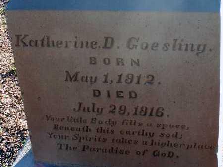 GOESLING, KATHERINE D. - Apache County, Arizona | KATHERINE D. GOESLING - Arizona Gravestone Photos