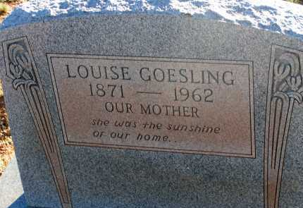 GOESLING, LOUISE - Apache County, Arizona | LOUISE GOESLING - Arizona Gravestone Photos