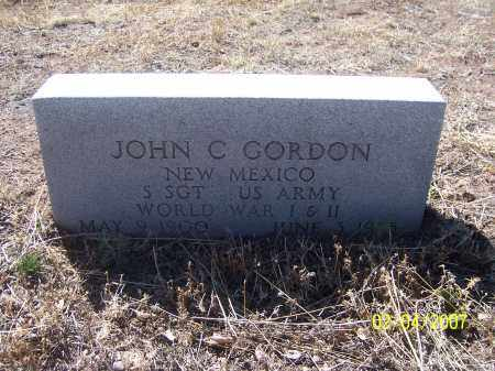 GORDON, JOHN C - Apache County, Arizona | JOHN C GORDON - Arizona Gravestone Photos