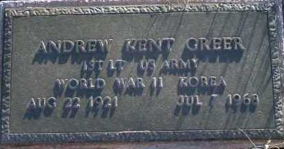 GREER, ANDREW KENT - Apache County, Arizona | ANDREW KENT GREER - Arizona Gravestone Photos