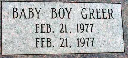 GREER, BABY BOY - Apache County, Arizona   BABY BOY GREER - Arizona Gravestone Photos