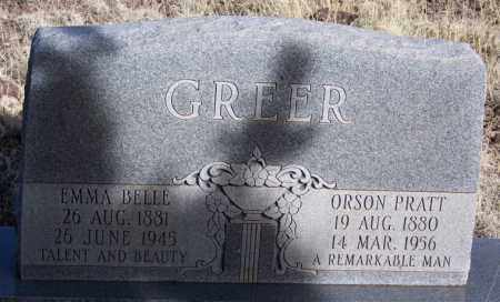 GREER, EMMA BELLE - Apache County, Arizona | EMMA BELLE GREER - Arizona Gravestone Photos