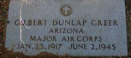 GREER, GILBERT DUNLAP - Apache County, Arizona   GILBERT DUNLAP GREER - Arizona Gravestone Photos