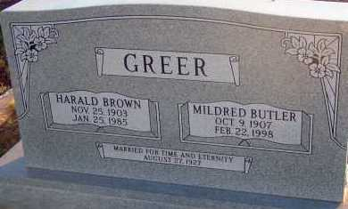 BUTLER GREER, MILDRED - Apache County, Arizona | MILDRED BUTLER GREER - Arizona Gravestone Photos