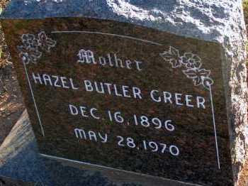 BUTLER GREER, HAZEL - Apache County, Arizona | HAZEL BUTLER GREER - Arizona Gravestone Photos