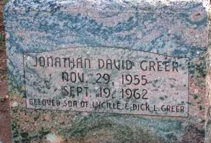 GREER, JONATHAN DAVID - Apache County, Arizona | JONATHAN DAVID GREER - Arizona Gravestone Photos