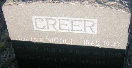GREER, JULIA NICOLL - Apache County, Arizona | JULIA NICOLL GREER - Arizona Gravestone Photos