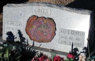 GREER, ALICE GENEVA - Apache County, Arizona | ALICE GENEVA GREER - Arizona Gravestone Photos