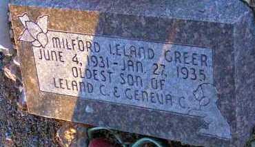 GREER, MILFORD LELAND - Apache County, Arizona   MILFORD LELAND GREER - Arizona Gravestone Photos