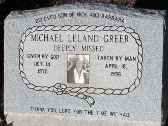 GREER, MICHAEL LELAND - Apache County, Arizona | MICHAEL LELAND GREER - Arizona Gravestone Photos