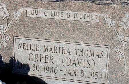 THOMAS GREER, NELLIE MARTHA - Apache County, Arizona | NELLIE MARTHA THOMAS GREER - Arizona Gravestone Photos