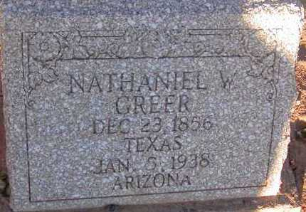 GREER, NATHANIEL W. - Apache County, Arizona   NATHANIEL W. GREER - Arizona Gravestone Photos