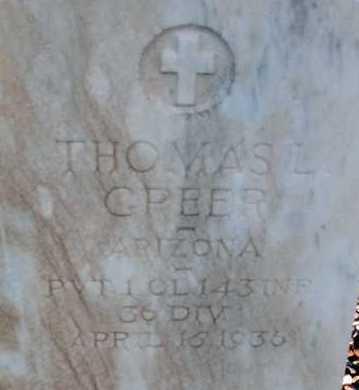 GREER, THOMAS L. - Apache County, Arizona | THOMAS L. GREER - Arizona Gravestone Photos
