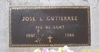 GUTIERREZ, JOSE L. - Apache County, Arizona | JOSE L. GUTIERREZ - Arizona Gravestone Photos