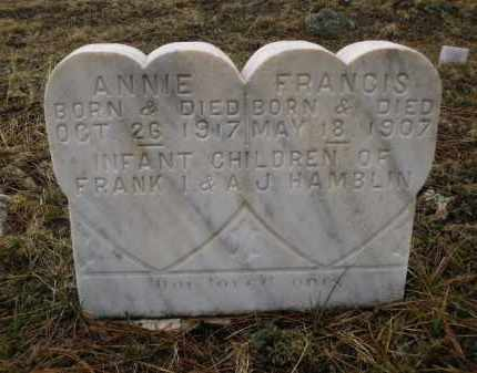 HAMBLIN, ANNIE - Apache County, Arizona | ANNIE HAMBLIN - Arizona Gravestone Photos